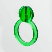 green pearl 3D ring