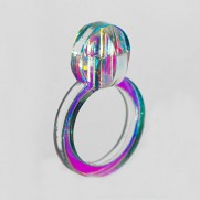 iridescent pearl 3D ring