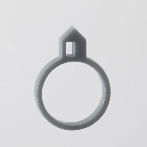 grey house with door ring