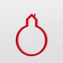 red shape house ring
