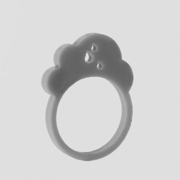 grey rainy cloud ring