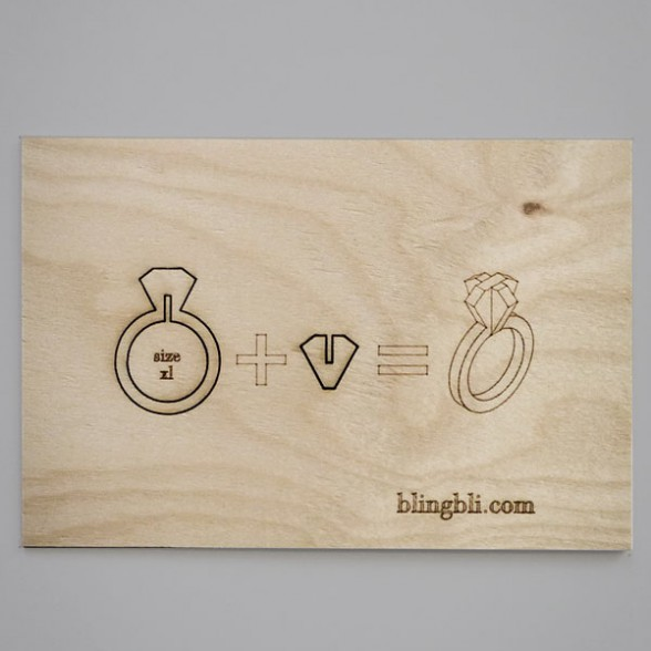 wooden card ring