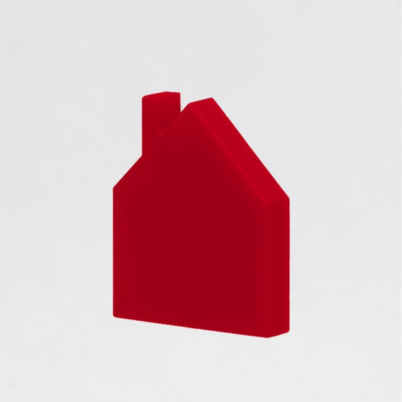 red house mini brooch