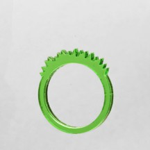 transparent green grass ring