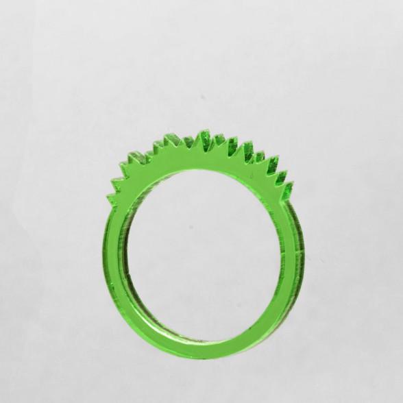transparent green grass ring
