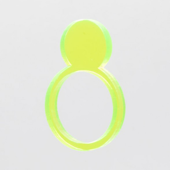 fluo-yellow sun ring